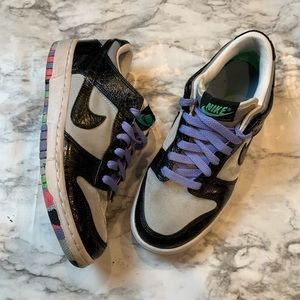 RARE Nike Dunk Low Premium SB 2008 Silver Black